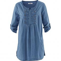 """Bluzka, krótki rękaw bonprix niebieski """"stone"""". Niebieskie bluzki damskie bonprix, z krótkim rękawem. Za 99.99 zł."""