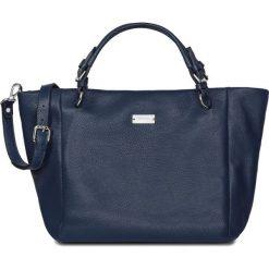 RABAT. Szare torebki shopper damskie W.KRUK, w paski, ze skóry. W wyprzedaży za 1,249.00 zł.