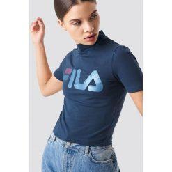 FILA T-shirt Every Turtle - Navy. Niebieskie t-shirty damskie Fila, z golfem. Za 141.95 zł.