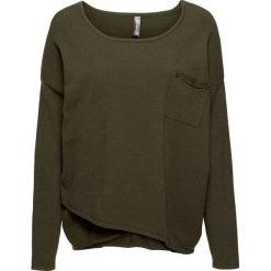 Sweter z założeniem kopertowym bonprix ciemnooliwkowy. Swetry damskie marki KALENJI. Za 99.99 zł.
