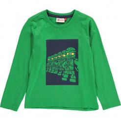 """Koszulka """"Thomas 614"""" w kolorze zielonym. Zielone t-shirty dla chłopców marki Lego Wear Fashion, z bawełny, z długim rękawem. W wyprzedaży za 49.95 zł."""