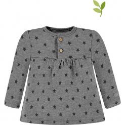 Koszulka w kolorze szarym. Szare bluzki dla dziewczynek bellybutton, z bawełny, z okrągłym kołnierzem. W wyprzedaży za 62.95 zł.