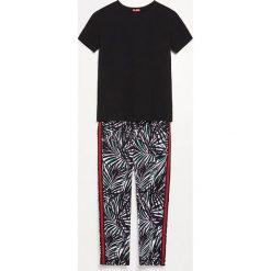 Piżama ze spodniami - Czarny. Czarne piżamy damskie Reserved. Za 99.99 zł.