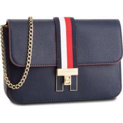 Torebka TOMMY HILFIGER - Th Heritage Xover AW0AW05641  413. Niebieskie torebki do ręki damskie Tommy Hilfiger, ze skóry ekologicznej. Za 599.00 zł.