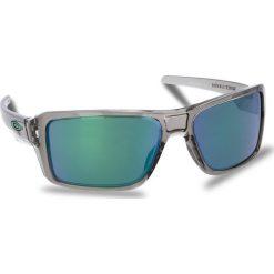 Okulary przeciwsłoneczne OAKLEY - Double Edge OO9380-0366 Grey Ink/Jade Iridium. Szare okulary przeciwsłoneczne męskie Oakley, z tworzywa sztucznego. W wyprzedaży za 479.00 zł.