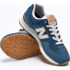 New Balance - Buty ML574OUB. Szare buty sportowe męskie New Balance, z materiału. W wyprzedaży za 269.90 zł.