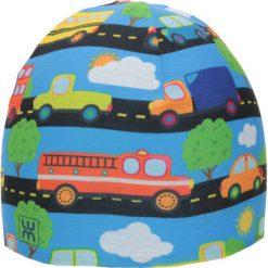 Dwuwarstwowa czapka Micro Double kid brum. Niebieskie czapki dla dzieci LUM. Za 52.44 zł.