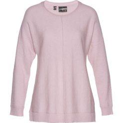 Sweter z domieszką kaszmiru bonprix matowy jasnoróżowy. Swetry damskie marki KALENJI. Za 79.99 zł.