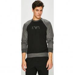 Emporio Armani - Bluza. Czarne bluzy męskie Emporio Armani, z nadrukiem, z bawełny. Za 389.90 zł.