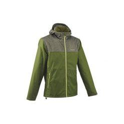 Kurtka turystyczna NH100 męska. Zielone kurtki męskie QUECHUA, z materiału. Za 99.99 zł.