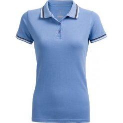 Koszulka polo damska TSD614 - niebieski - Outhorn. Niebieskie bluzki damskie Outhorn, z bawełny, polo. W wyprzedaży za 29.99 zł.