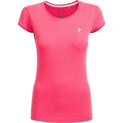 T-shirt damski TSD616 - ciemny róż melanż - Outhorn. Czerwone t-shirty damskie Outhorn, melanż, z bawełny. W wyprzedaży za 24.99 zł.