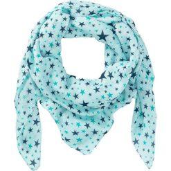 Chusta w gwiazdki bonprix miętowo-niebieskozielony morski-zielony butelkowy. Niebieskie szaliki i chusty damskie bonprix, z nadrukiem. Za 44.99 zł.