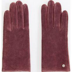 Skórzane rękawiczki - Fioletowy. Fioletowe rękawiczki damskie Reserved. Za 69.99 zł.