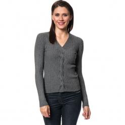 Sweter w kolorze antracytowym. Szare swetry damskie Assuili, z kaszmiru. W wyprzedaży za 113.95 zł.