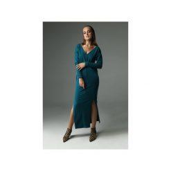 Sukienka the Ruler - ciemny turkus. Zielone sukienki damskie Madnezz, z aplikacjami, z bawełny. Za 279.00 zł.