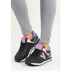 Czarno-Różowe Buty Sportowe Gilerma. Czarne buty sportowe dziewczęce Born2be, z materiału. Za 34.99 zł.