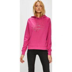 Vero Moda - Bluza Voyage. Różowe bluzy damskie Vero Moda, z aplikacjami, z bawełny. W wyprzedaży za 119.90 zł.