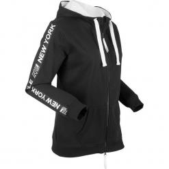 Bluza bawełniana rozpinana, długi rękaw bonprix czarny. Bluzy damskie marki KALENJI. Za 99.99 zł.