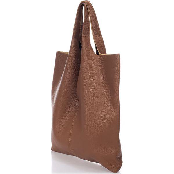 86f8b56853c3c Skórzana torebka w kolorze brązowym - 37 x 40 x 7 cm - Torebki do ...