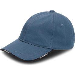 Czapka z daszkiem EMPORIO ARMANI - 627502 8A552 01537  Coastal Blue. Niebieskie czapki i kapelusze damskie Emporio Armani, z bawełny. W wyprzedaży za 199.00 zł.
