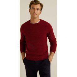 Mango Man - Sweter Bulky. Brązowe swetry przez głowę męskie Mango Man, z dzianiny, z okrągłym kołnierzem. Za 199.90 zł.