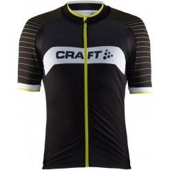 Craft Męska Koszulka Rowerowa Gran Fondo Czarny/Żółty M. Czarne koszulki sportowe męskie Craft, z materiału, z krótkim rękawem. Za 385.00 zł.