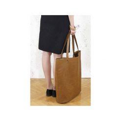 Mega Shopper bag ruda torba oversize Vegan. Brązowe torebki shopper damskie Hairoo, w paski. Za 185.00 zł.