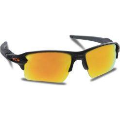 Okulary przeciwsłoneczne OAKLEY - Flak 2.0 Xl OO9188-22 Polished Black/Fire Iridium. Czarne okulary przeciwsłoneczne męskie Oakley, z tworzywa sztucznego. W wyprzedaży za 509.00 zł.