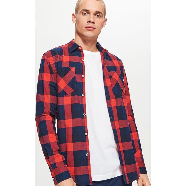 9e42377f3ff446 Koszula w kratę - Czerwony - Koszule męskie marki Cropp. W ...