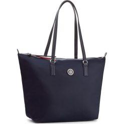 Torebka TOMMY HILFIGER - Poppy Tote AW0AW04302  413. Niebieskie torebki do ręki damskie Tommy Hilfiger, z materiału. Za 379.00 zł.