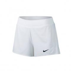 Spodenki tenis Nike Pure damskie. Białe szorty damskie Nike, z elastanu. W wyprzedaży za 99.99 zł.