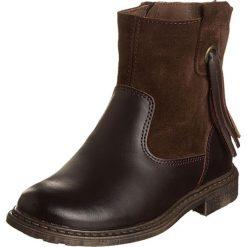 Skórzane botki w kolorze ciemnobrązowym. Botki dziewczęce Zimowe obuwie dla dzieci. W wyprzedaży za 137.95 zł.