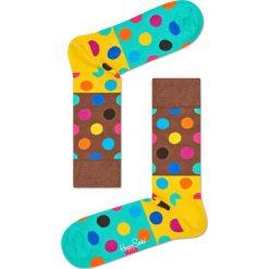 Happy Socks - Skarpety Big Dot Block. Brązowe skarpety męskie Happy Socks, z bawełny. W wyprzedaży za 29.90 zł.