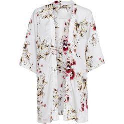 Żakiet w kwiatowy deseń bonprix biel wełny w kwiaty. Żakiety damskie marki bonprix. Za 54.99 zł.