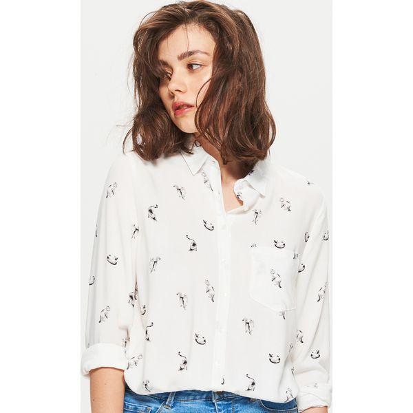 a9942c903f28 Klasyczna koszula z nadrukiem - Biały - Koszule damskie marki Cropp ...
