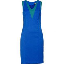 Sukienka ołówkowa bonprix lazurowo-szmaragdowy. Niebieskie sukienki damskie bonprix. Za 149.99 zł.
