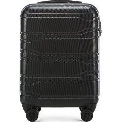 Walizka mała 56-3P-981-10. Czarne walizki damskie Wittchen, z gumy. Za 259.00 zł.
