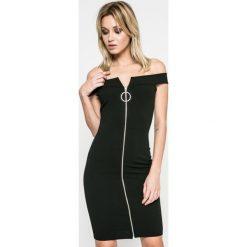 Missguided - Sukienka. Szare sukienki damskie Missguided, z elastanu, casualowe, z dekoltem w łódkę. W wyprzedaży za 69.90 zł.