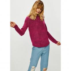 Vero Moda - Sweter Duarte. Szare swetry damskie Vero Moda, z dzianiny, z okrągłym kołnierzem. Za 99.90 zł.