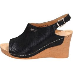 Czarne buty Filippo, na koturnie Kolekcja wiosna 2020