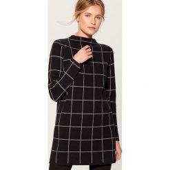 Długi sweter ze stójką - Czarny. Czarne swetry damskie Mohito, ze stójką. Za 139.99 zł.
