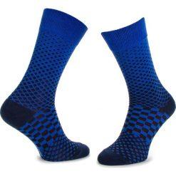 Skarpety Wysokie Męskie DOTS SOCKS - DTS-SX-081-X Granatowy. Niebieskie skarpety męskie Dots Socks, z bawełny. Za 19.90 zł.