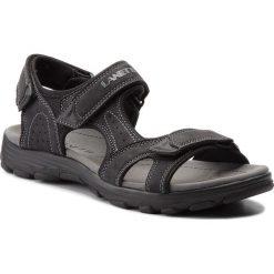 Sandały LANETTI - MS17011-1 Czarny. Czarne sandały męskie Lanetti, z materiału. Za 79.99 zł.