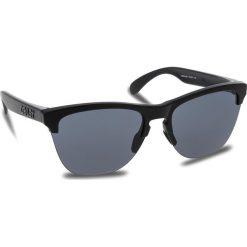 Okulary przeciwsłoneczne OAKLEY - Frogskins Lite OO9374-0163 Matte Black/Grey. Czarne okulary przeciwsłoneczne damskie Oakley. W wyprzedaży za 379.00 zł.