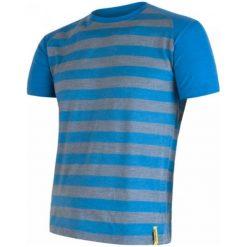 Sensor Koszulka Termoaktywna Merino Wool Active M Paski Blue S. Niebieskie koszulki sportowe męskie Sensor, z materiału, z krótkim rękawem. Za 195.00 zł.
