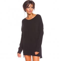 """Sweter """"Louina"""" w kolorze czarnym. Czarne swetry damskie So Cachemire, z kaszmiru, z dekoltem w łódkę. W wyprzedaży za 173.95 zł."""
