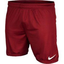 Nike Spodenki męskie Park Boys  czerwone r. S. Krótkie spodenki sportowe męskie Nike. Za 44.63 zł.