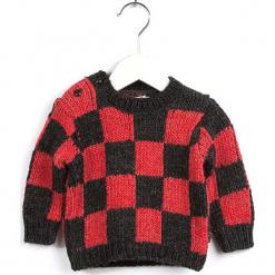 Sweter w kolorze antracytowo-czerwonym. Swetry dla dziewczynek marki Giacomo Conti. W wyprzedaży za 92.95 zł.