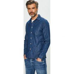 Pepe Jeans - Koszula. Niebieskie koszule męskie Pepe Jeans, z bawełny, z klasycznym kołnierzykiem, z długim rękawem. Za 319.90 zł.